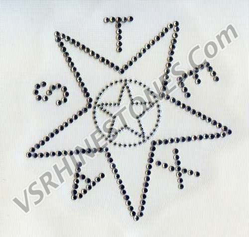 Texas Star Rhinestone Transfer