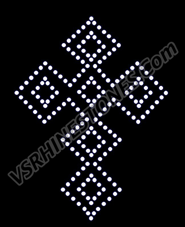 Triangle Cross Rhinestone Transfer