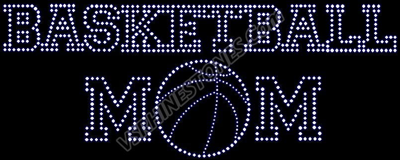 Basketball Mom - Varsity Rhinestone Transfer