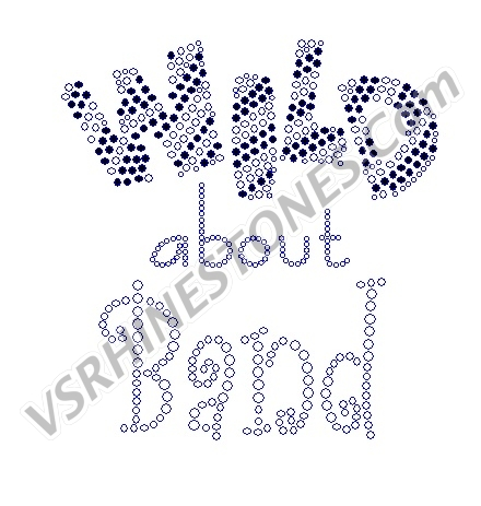 Wild About Band Rhinestone Transfer
