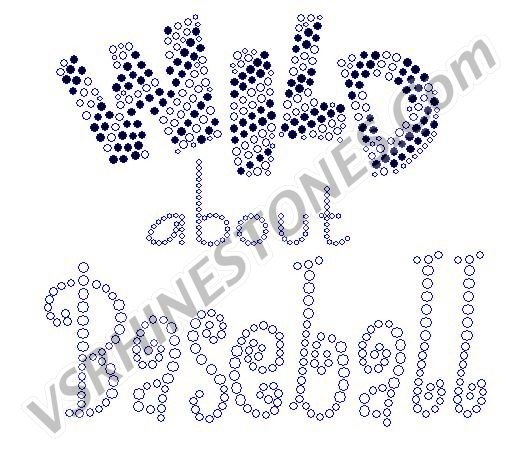Wild about Baseball Rhinestone Transfer
