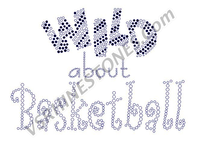 Wild about Basketball Rhinestone Transfer