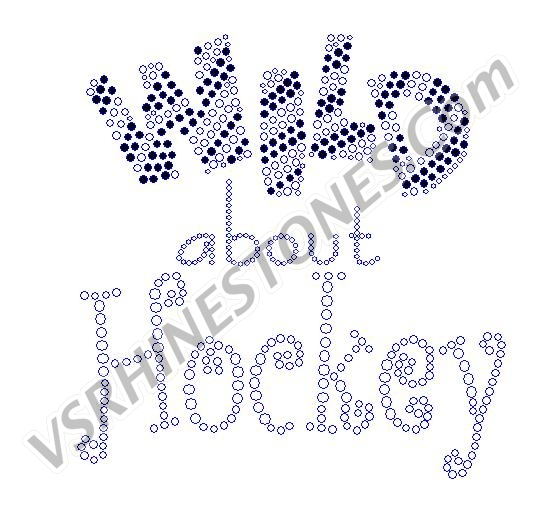 Wild about Hockey Rhinestone Transfer