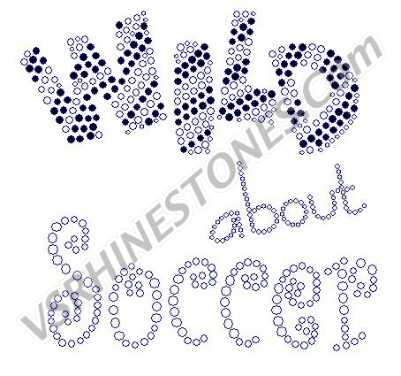 Wild about Soccer Rhinestone Transfer