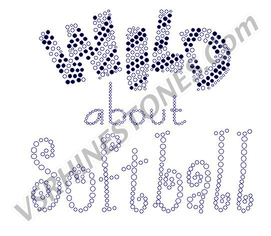 Wild about Softball Rhinestone Transfer