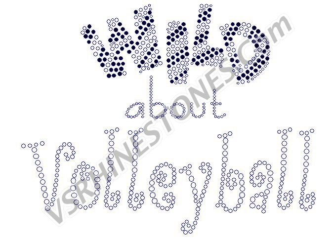 Wild about Volleyball Rhinestone Transfer