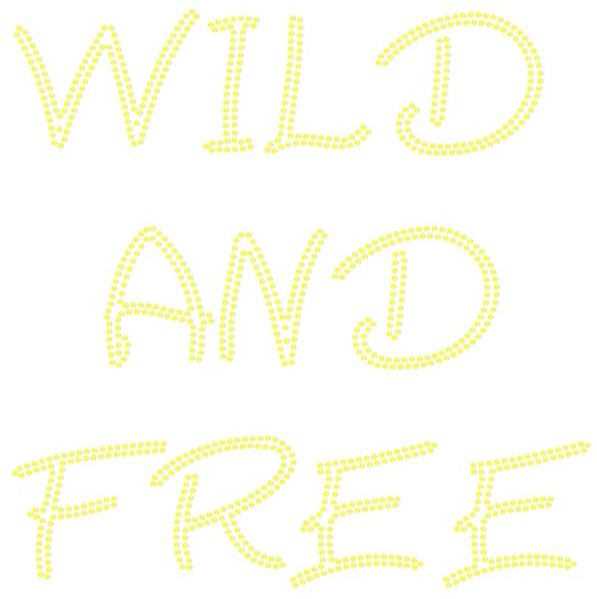 Wild and Free Sequin Transfer - Silver