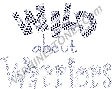 Wild about Warriors Rhinestone Transfer