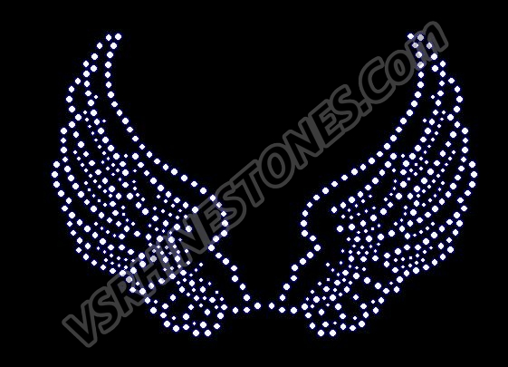 Angel Wings Rhinestone Transfer Small