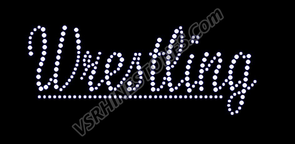 Wrestling - Word Rhinestone Transfer