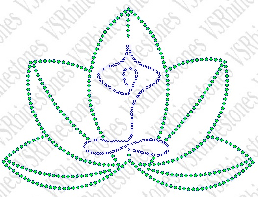 Yoga Lotus Rhinestone Transfer